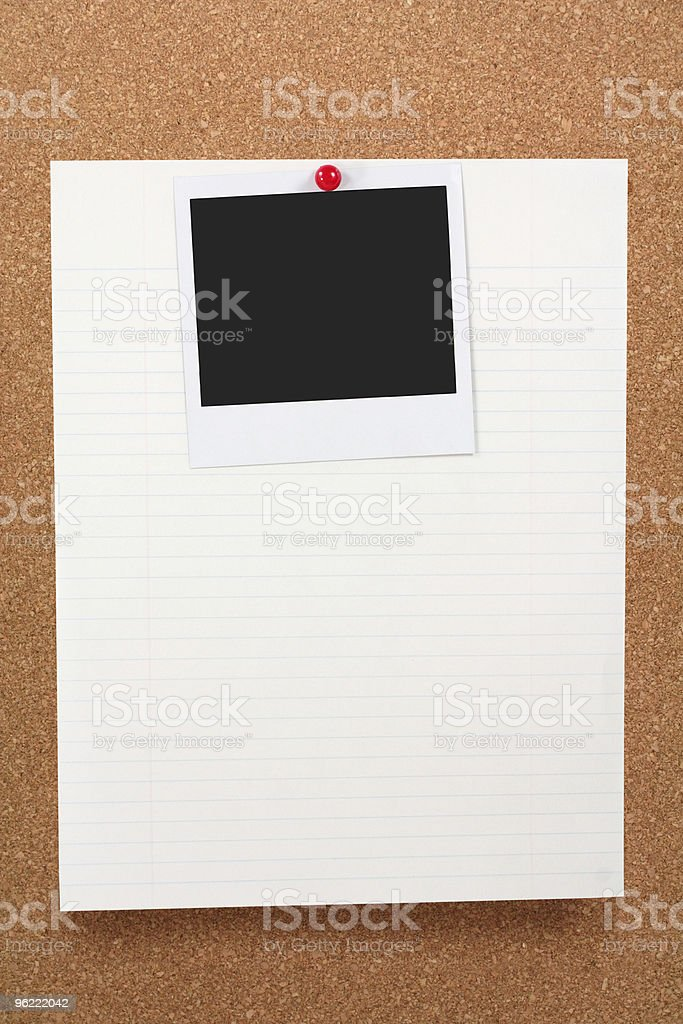 notepaper and blank photo royalty-free stock photo