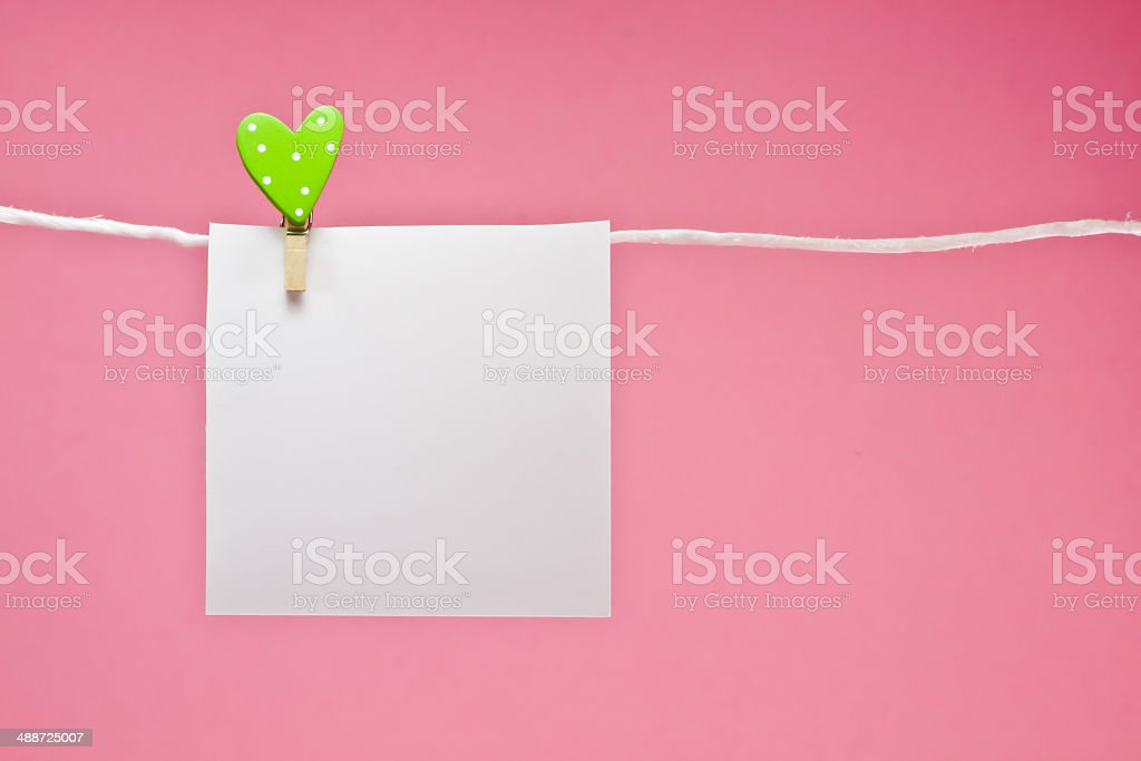 notepaper with  love concept stock photo