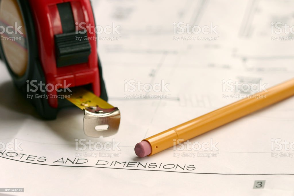 Notes and Dimensions royalty-free stock photo