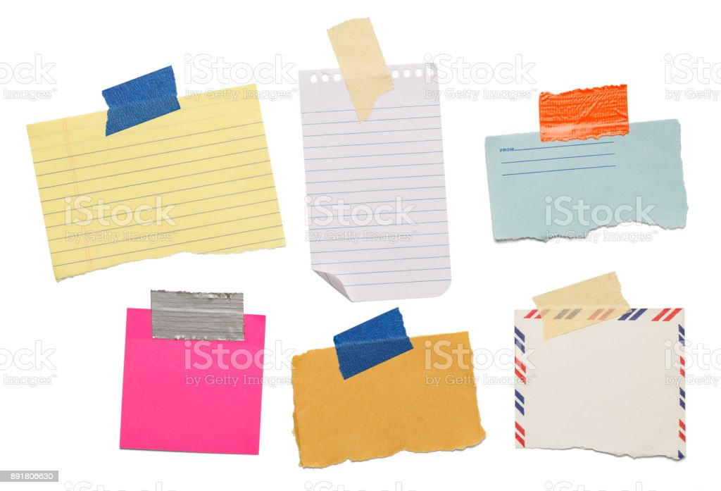 Notes and Tape stock photo