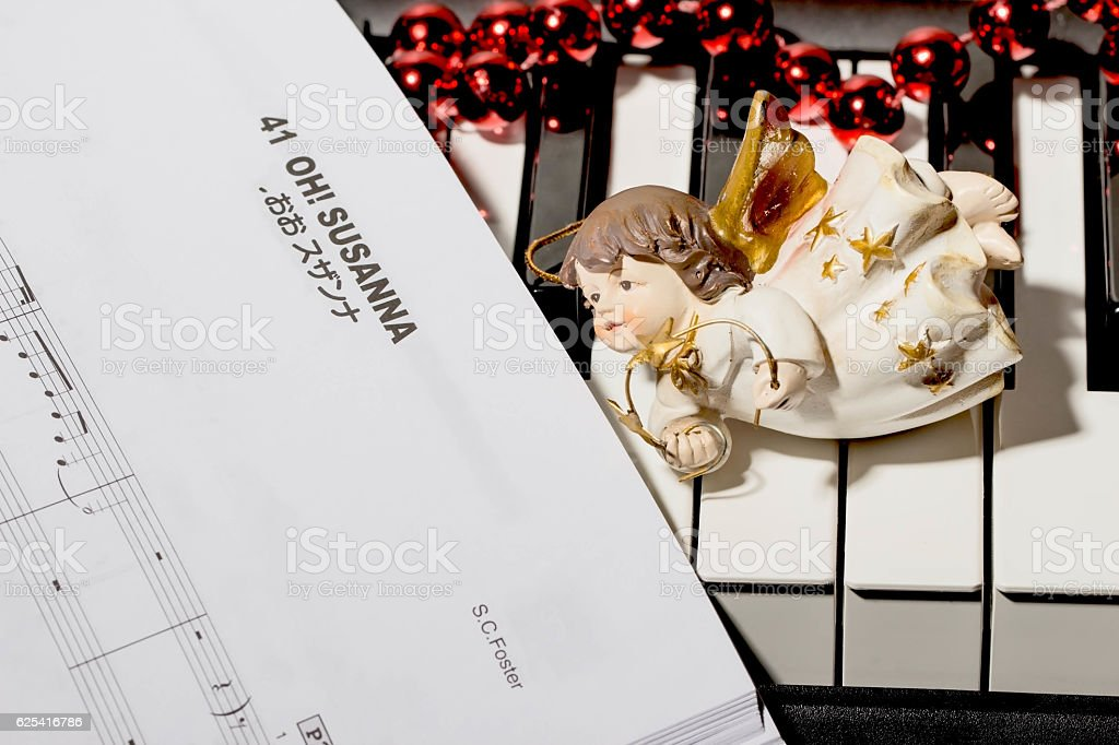 notes Christmas songs stock photo