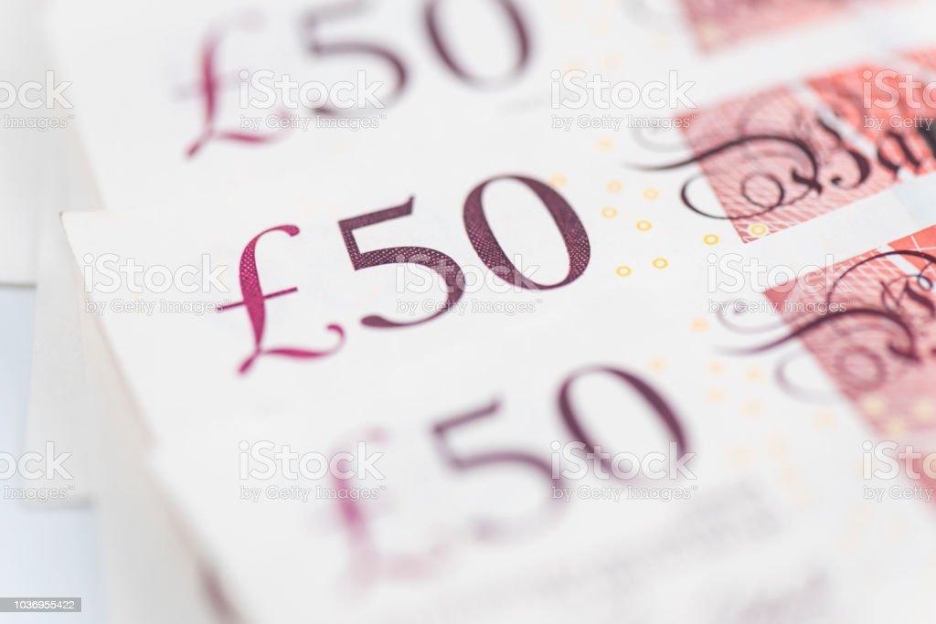 £50 notes closeup - Photo