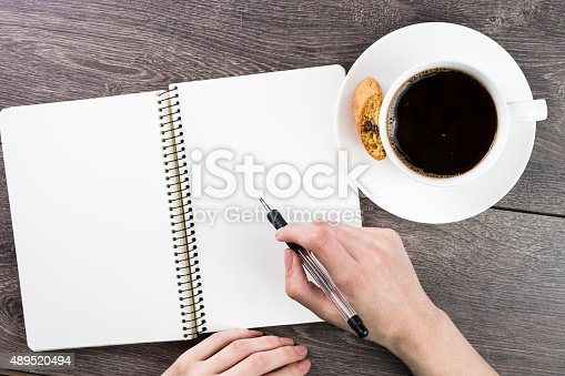 istock Notes for a cup of coffee 489520494