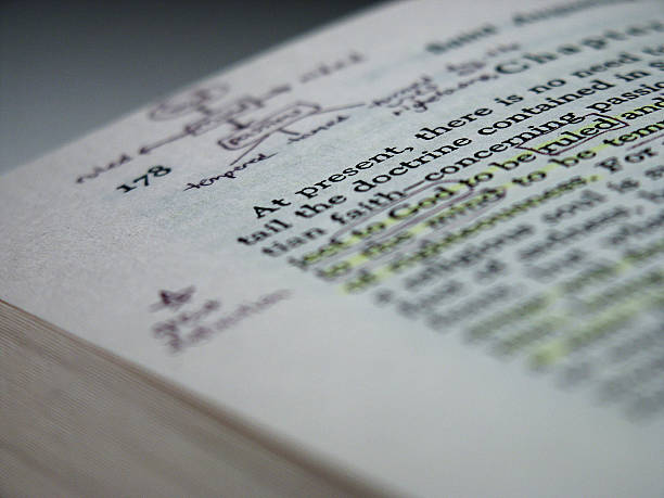 Notes in Book stock photo