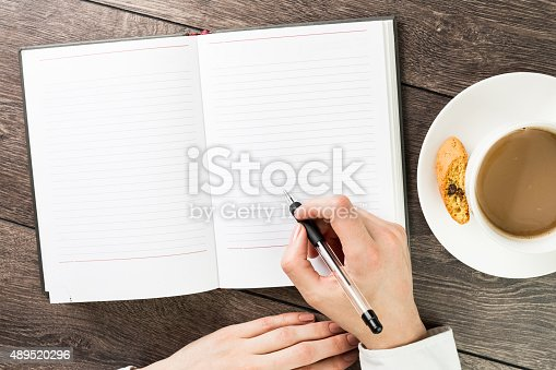 istock Notes of a cup of cappuccino 489520296