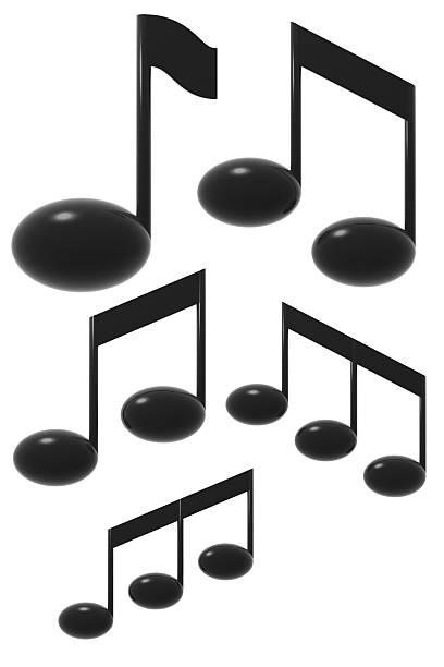 3 d note - note de musique photos et images de collection