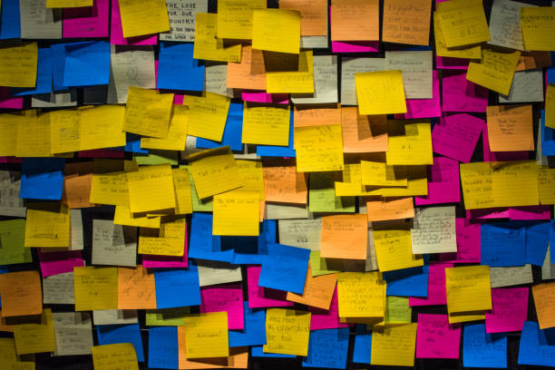 notes - adhesive note stock photos and pictures