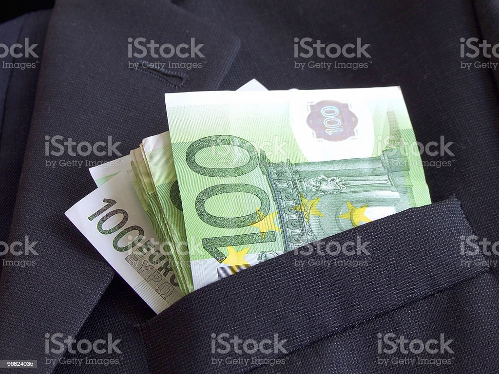 EURO BILLS, 100 notes royalty-free stock photo
