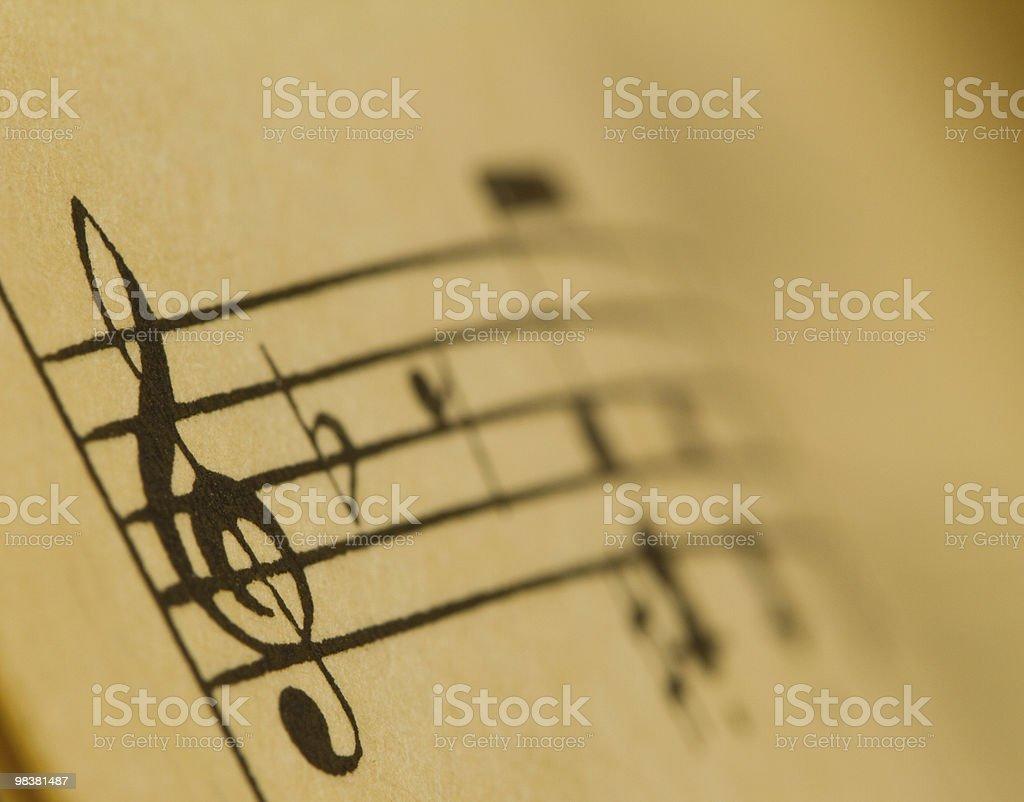 Notes treble clef royalty-free stock photo