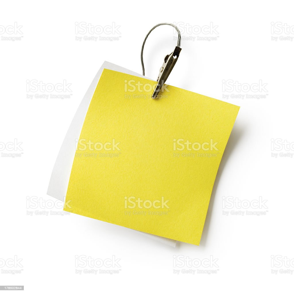 Notes with Clip royalty-free stock photo