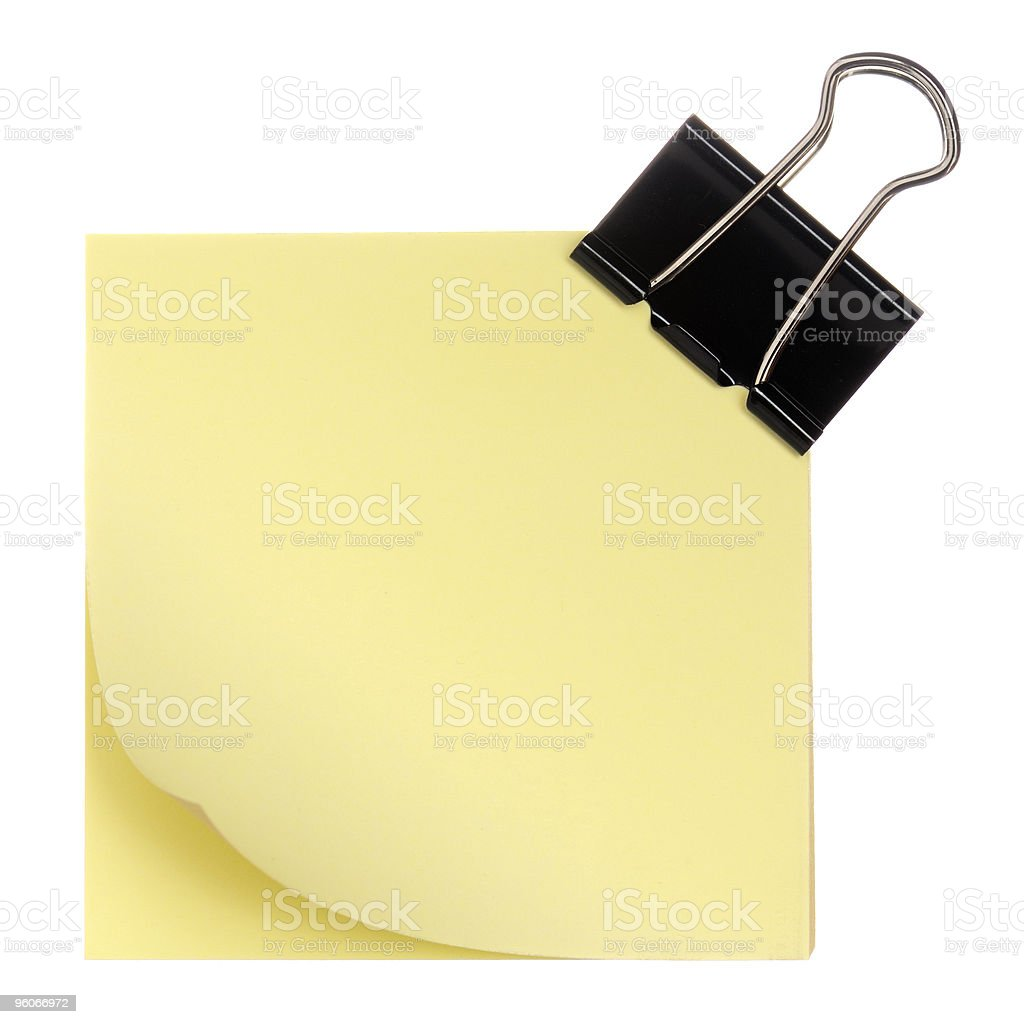 Notes with paper-clip royalty-free stock photo