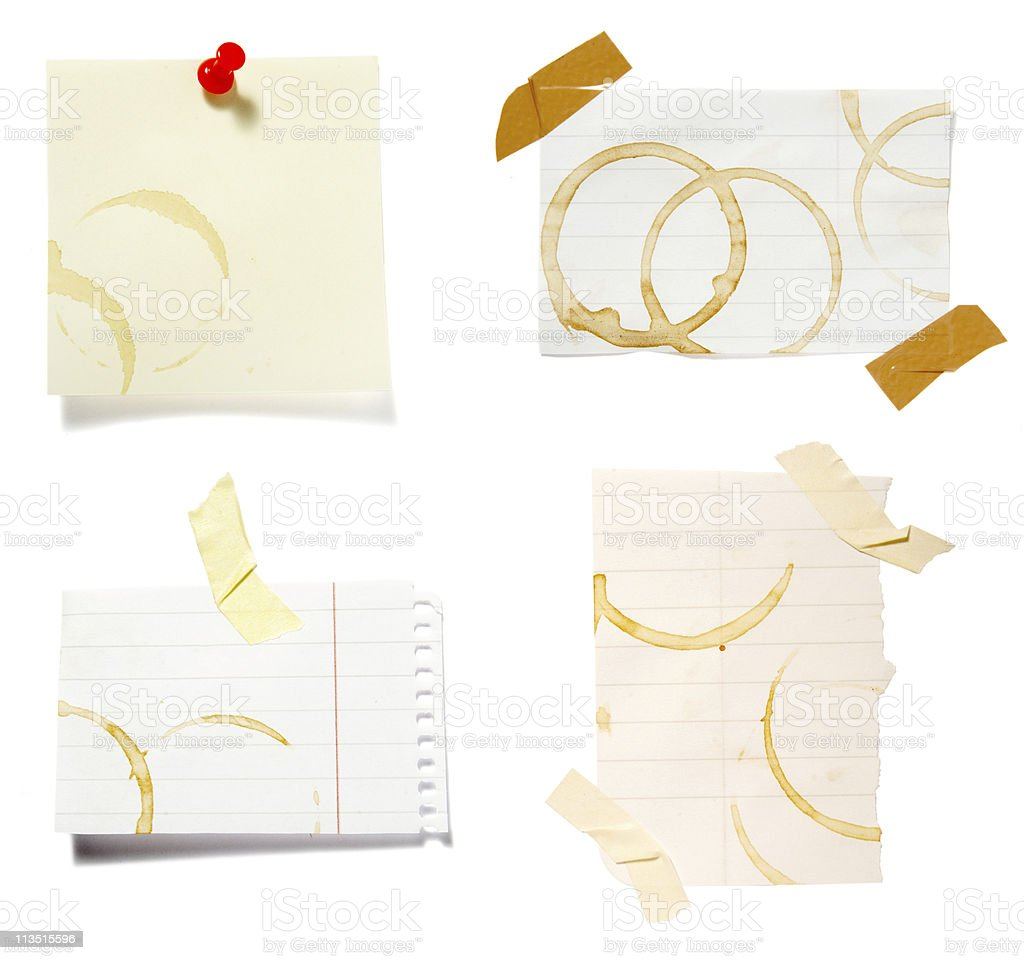 notes with stains royalty-free stock photo
