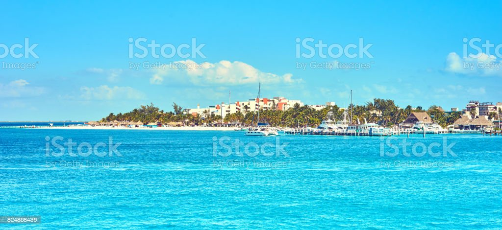 Noth Beach of 'Isla Mujeres' in Mexico stock photo