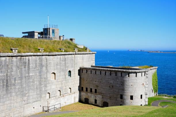 nothe fort, weymouth. - weymouth stock photos and pictures