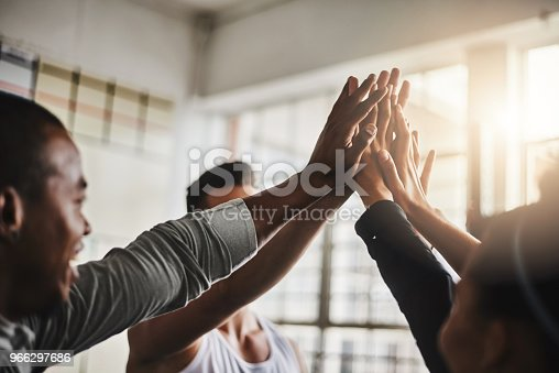 istock Nothing amps up a workout like friends 966297686