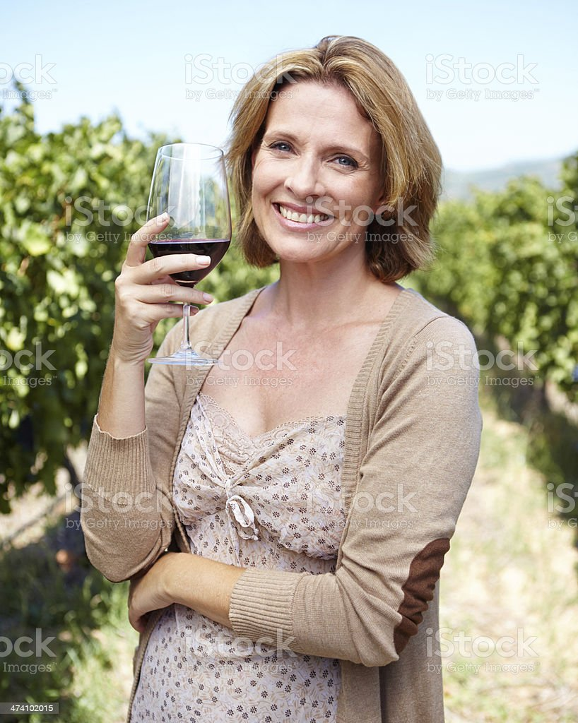 Nothing beats an excellent vintage! royalty-free stock photo
