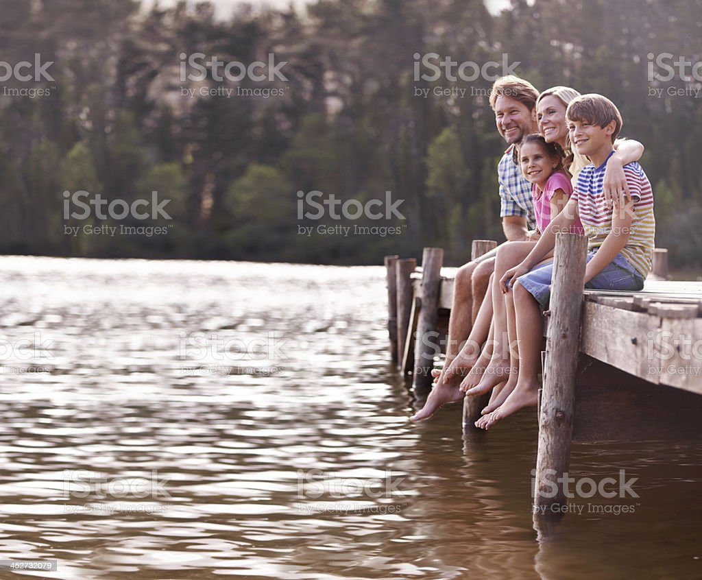 Nothing beats the annual family lake vacation! royalty-free stock photo