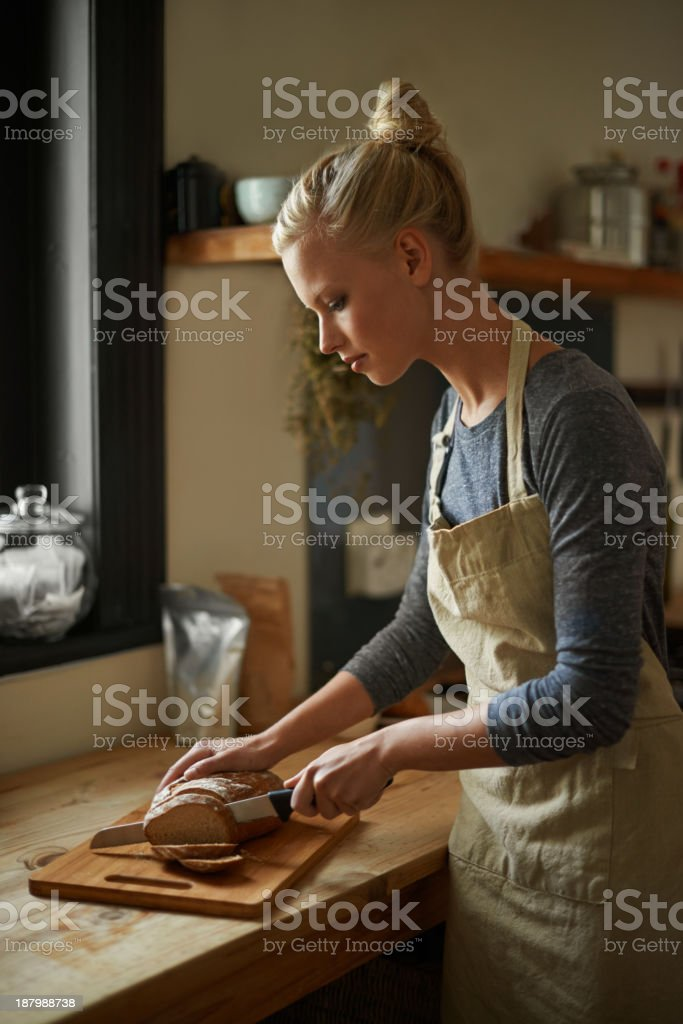 Nothing better than freshly baked bread stock photo