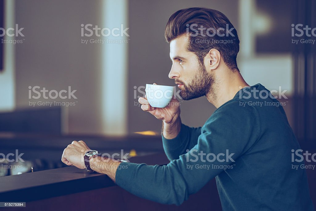 Nothing better then cup of fresh espresso. stock photo