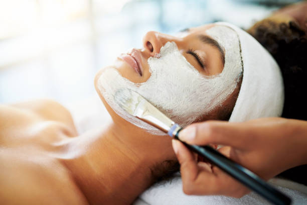 nothing boosts the skin like a facial - chemical peel stock pictures, royalty-free photos & images