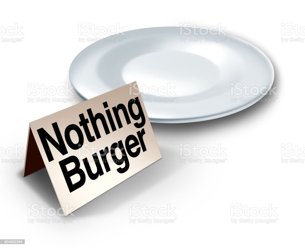 Nothing Burger Concept stock photo