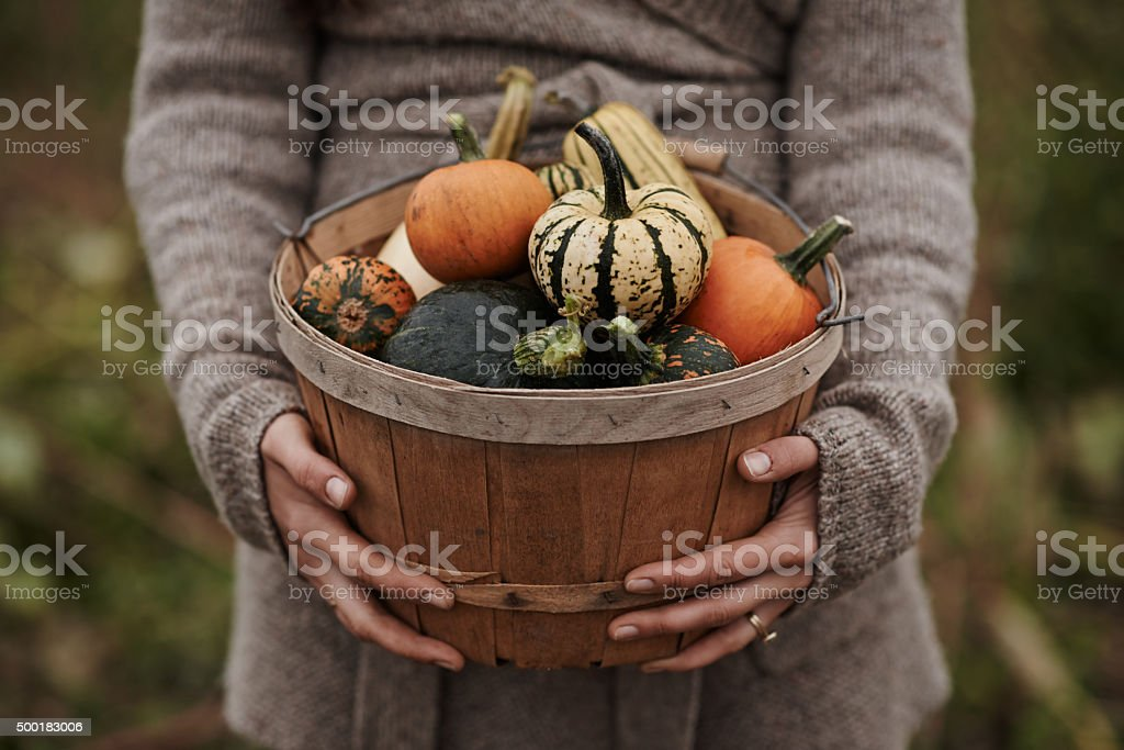 Nothing but good food from her garden stock photo