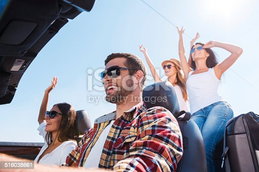 istock Nothing but good friends and road trip. 516038661