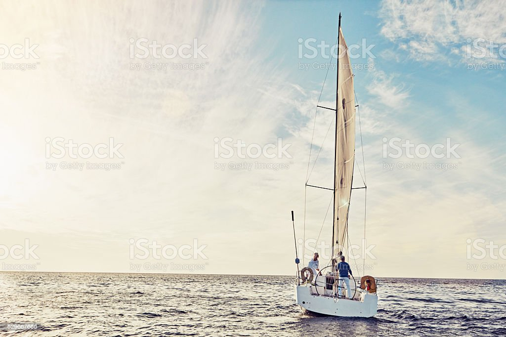 Nothing but smooth sailing stock photo
