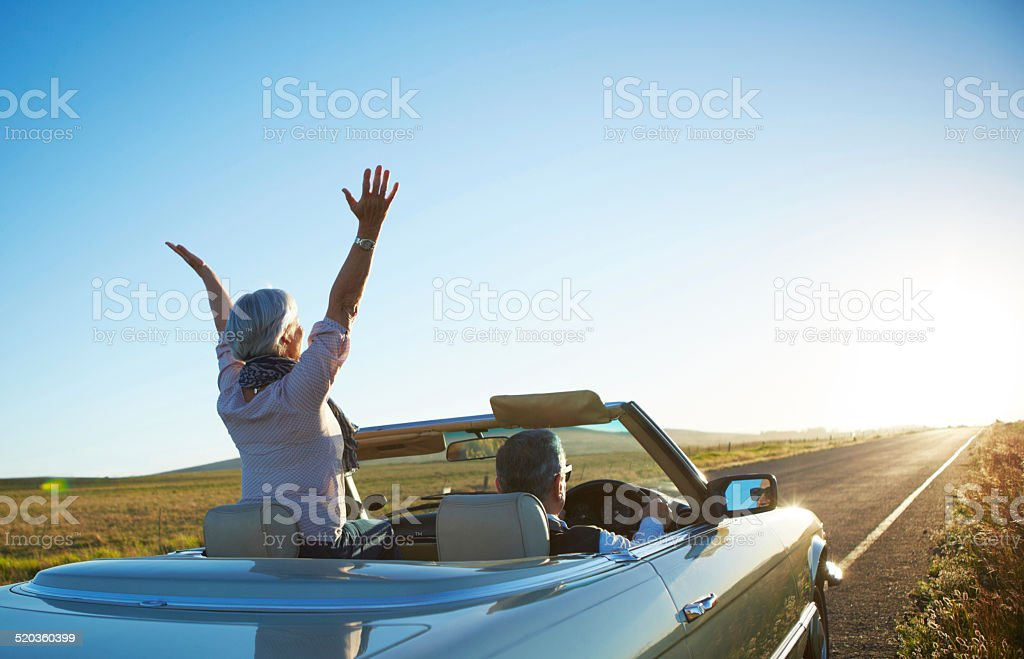Nothing but the open road stock photo