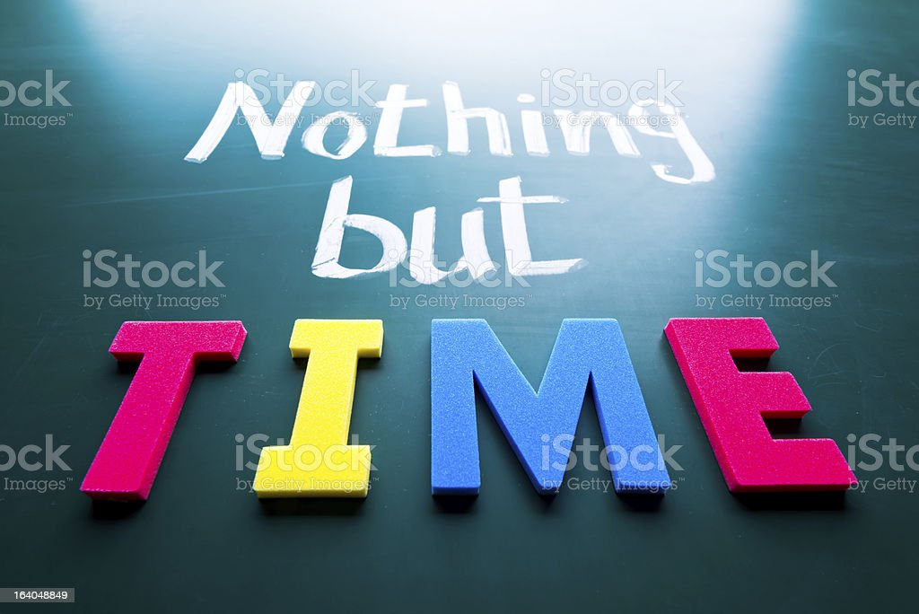 Nothing but time royalty-free stock photo