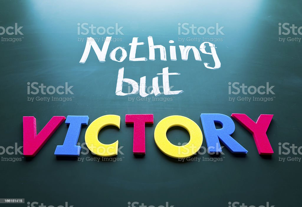 Nothing but victory royalty-free stock photo
