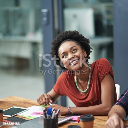 istock Nothing compares to seeing her ideas realized 586386486