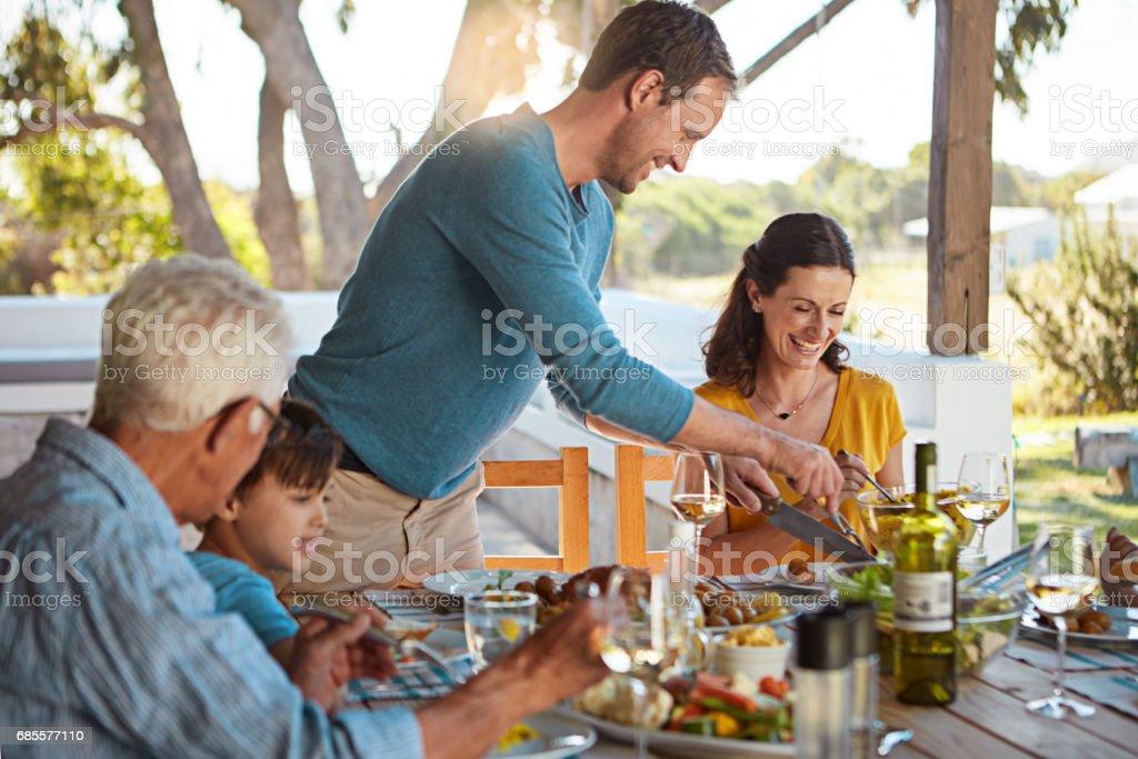 沒有連接家庭喜歡的食物 免版稅 stock photo