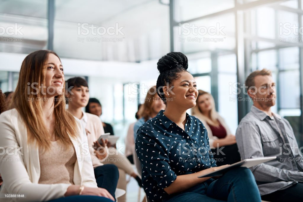 Nothing drive audience interaction like q and a stock photo