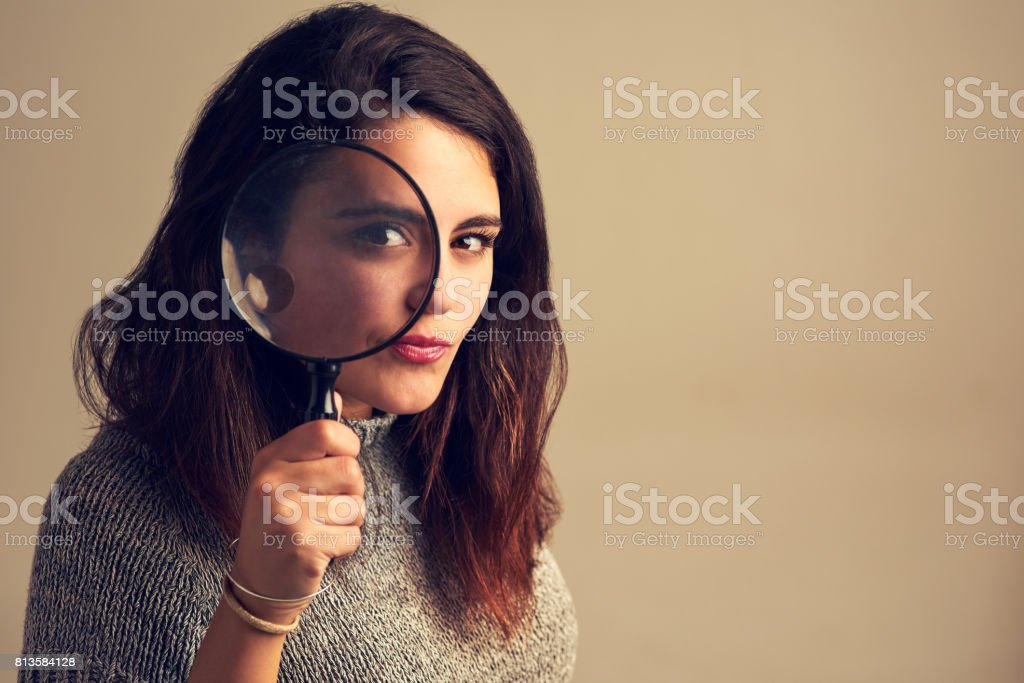 Nothing escapes my eye stock photo
