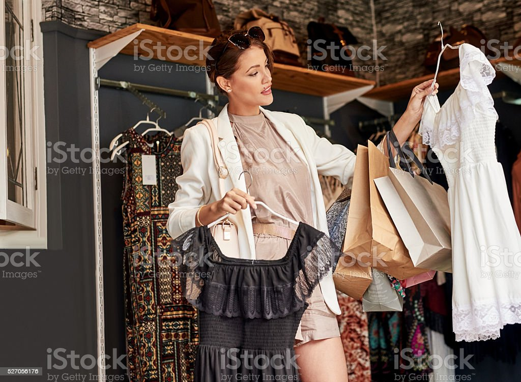 Nothing haunts us like the things we didn't buy stock photo