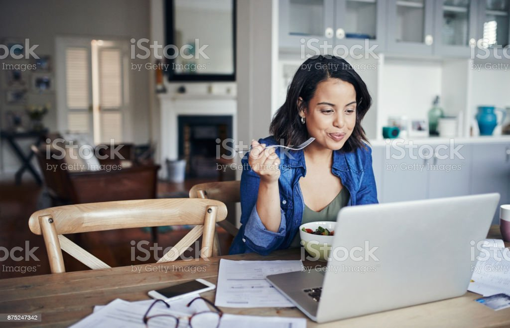 Nothing inspires productivity like a healthy lunch stock photo