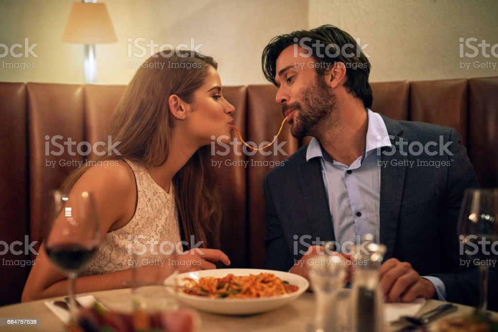 Nothing inspires romance quite like Italian food stock photo