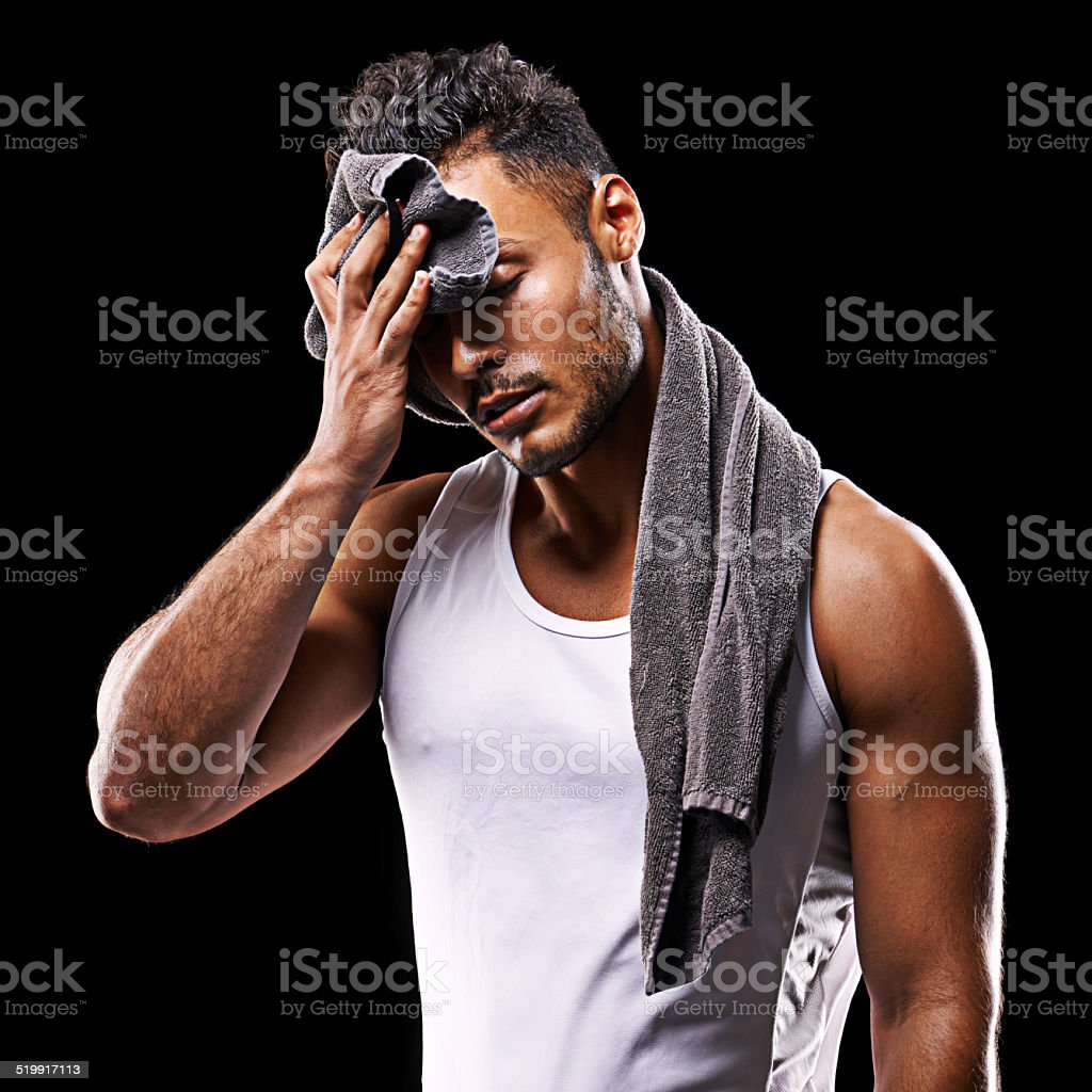 Nothing is achieved without a bit of sweat stock photo