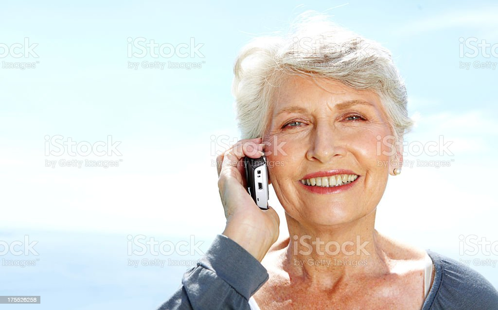 Nothing like a chat with an old friend royalty-free stock photo