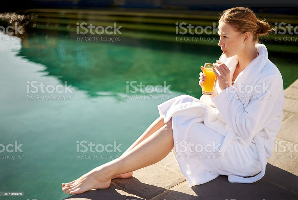 Nothing more calming than still waters stock photo