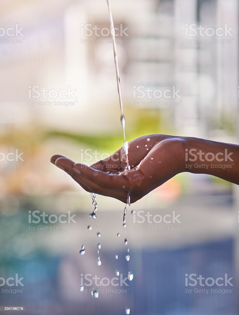 Nothing refreshes like water stock photo