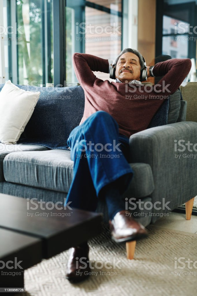 Nothing relaxes you like soulful music stock photo