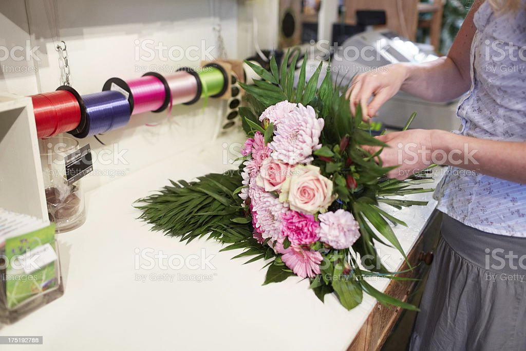 Nothing says I love you like a bunch of flowers royalty-free stock photo