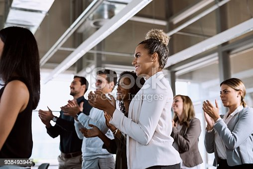 istock Nothing says powerful presentation like a standing ovation 938493944