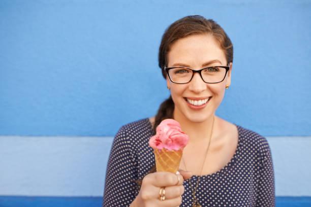 Nothing says summer like a strawberry ice cream stock photo