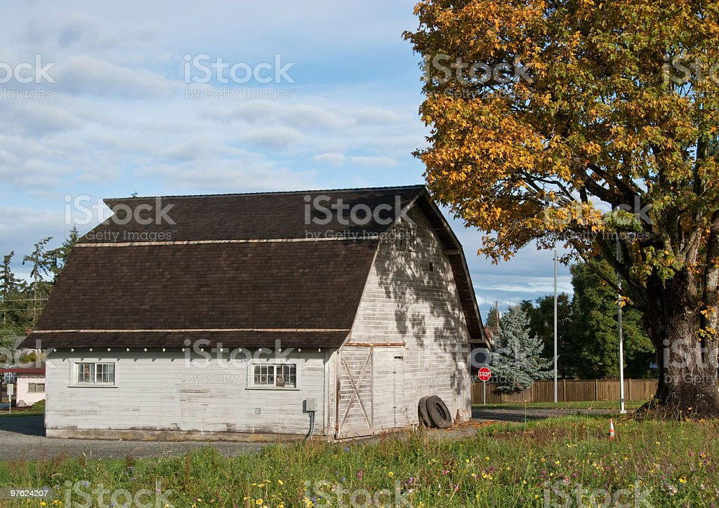 Barn With Fall Colors royalty-free stock photo