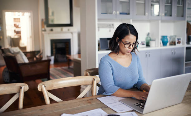 Nothing stops her from getting it done stock photo