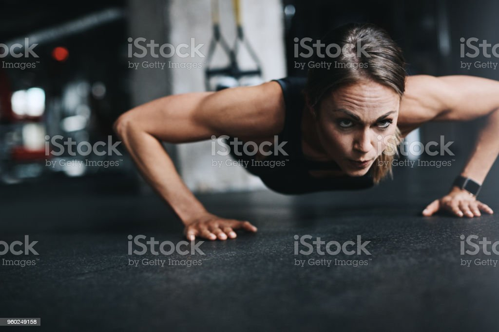 Nothing stops her. Nothing stock photo