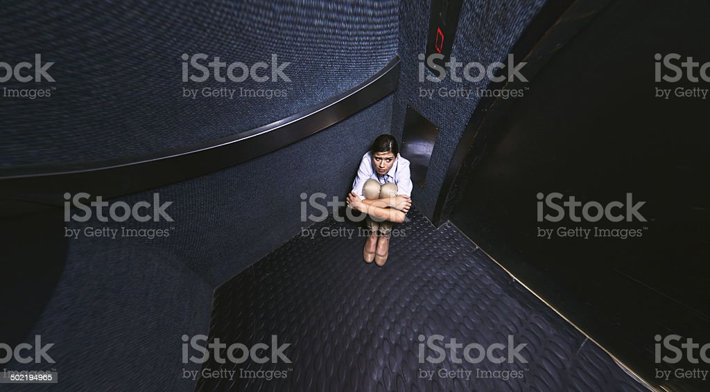 Nothing to do but wait stock photo